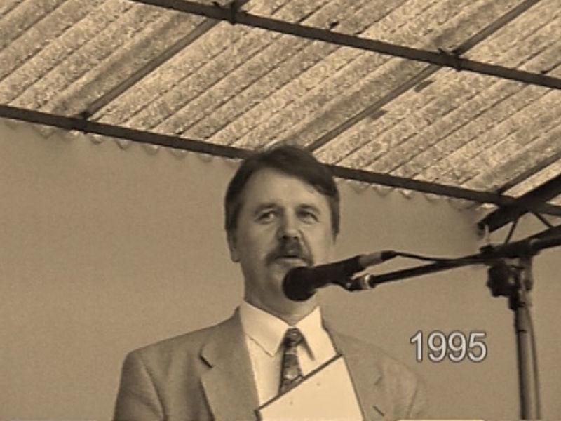 Święto Pieczarki 1995 - Dyrektor Centrum Kultury