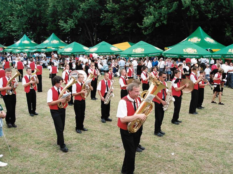 Święto Pieczarki 2000 - Orkiestra Dęta z Rostarzewa