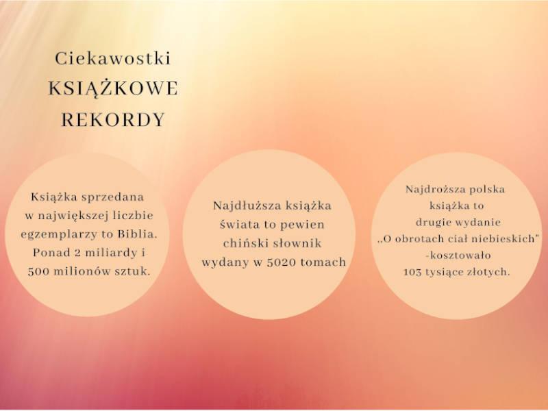 Plakat Ciekawostki : Książkowe rekordy